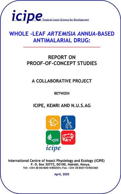 Vorstudie zur Wirkung von Artemisia annua Tabletten - Etikett